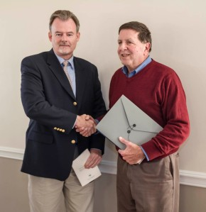 Chuck Walder, Russell Township Fiscal Officer presented the award to Sandy Siegler.